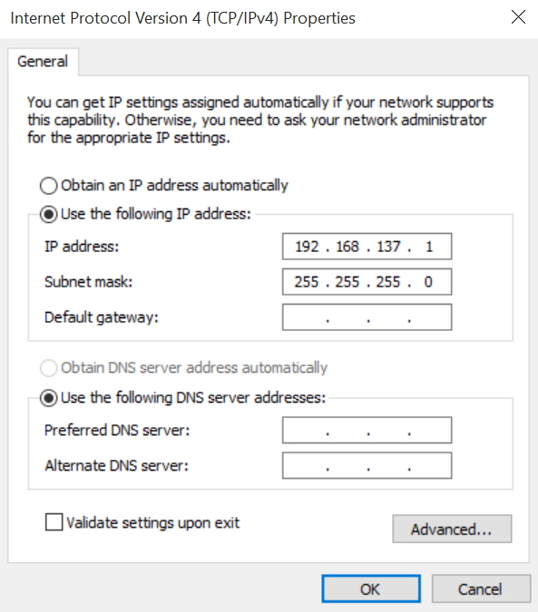 how to connect to ethernet windows 10